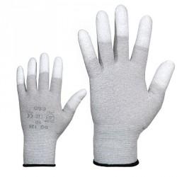 Töökindad antistaatilised nailonist, näpuotsad kaetud polüuretaaniga
